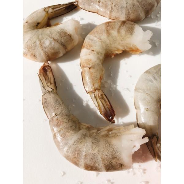 Тигрова креветка світла Ванамей в панцирі 16-20 шт / 1 кг